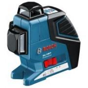 Nivela laser cu linii Bosch GLL 3-80 P + BM 1 + LR 2