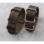 Wholesale !Suunto Core Nylon Diver Strap Band Kit w Lugs Adapters ArmyGreen 5-ring 18 20 22 24 26mm Zulu Nato Watchbands