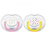 Philips Avent 2-Pack Freeflow Nappar 6-18M Rosa