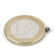 Magnet neodim sfera, diametru 3 mm, putere 130 g