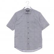 【SALE 40%OFF】コムサイズム COMME CA ISM パッチワークジャカードシャツ (ネイビー)
