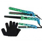 LIMITED EDITION FULL 3 PIECE SET with MINI HAIR STRAIGHTENER (Peacock)