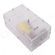 NEJE JS0006-2 Useless montado completamente Maquina Toy Box - Transparente (2 x AA)