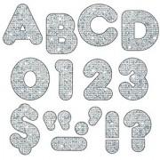 Trend T1613 Ready Letters Sparkles Letter Set Silver Sparkle 4 h 71/Set (TEPT1613)