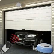 vidaXL Porta de garagem com abertura automática conjunto 2 controlos remotos