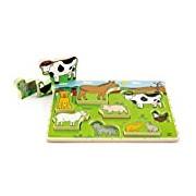 Hape HAP-E1450 Farm Animals Stand Up Puzzle