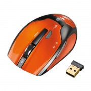 Mouse optic wireless Milano Hama, USB, Portocaliu