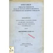 Specimen Thesauri Verborum Quae In Titulis Ionicis Leguntur Cum Herodoteo Sermone Comparati (Dissertatio)