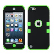 Funda Protector Triple Layer Uso Rudo Apple Ipod Touch 5G / 6G Negro Verde Electrico