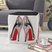 House of Hampton Welles Fire In Your New Shoes Ottoman HOHN8004