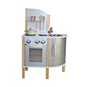 """Liberty House Toys """"Little Chef"""" Contemporary Wooden Toy Kitchen (Grey)"""