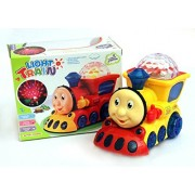 Blossom Light Train Toy with Amazing 3D Lights, Bump & Go Movement & Wonderful Music for Kids, Yellow