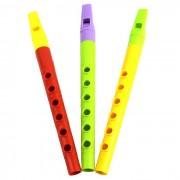 Plastico flauta instrumento musical - Rojo + Verde + Multi-color (3pcs)