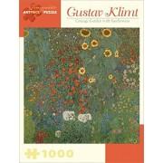 Gustav Klimt Cottage Garden with Sunflowers 1000 piece Puzzle by Pomegranate