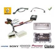 COMMANDE VOLANT RENAULT CLIO 2013- - Pour Pioneer complet avec interface specifique