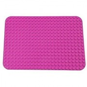 Premium Pink Base Plate - 15 x 10.5 Baseplate (DUPLO Compatible) - Large Pegs Only