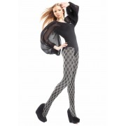 Marilyn - Trendy diamond pattern tights Inez 80 DEN