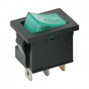Interupator basculant 1 circuit 6A-250V OFF-ON verde
