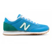 New Balance Women's 501 Ripple Sole Silver with Blue Blue