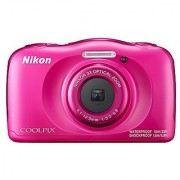 Nikon Coolpix W100 13.2 MP Point and Shoot Digital Camera (Pink) with 3x Optical Zoom Card and Camera Case
