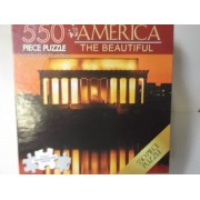 America the Beautiful 550 Piece Abraham Lincoln Memorial Puzzle