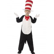 Childs Dr. Seuss Cat In The Hat Costume - LARGE