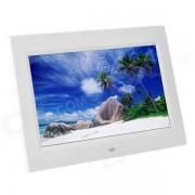 """1012 10"""" TFT marco de fotos digital con altavoz incorporado / SD + control remoto - Blanco"""