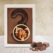 Chocoladekaart Cijfer - Enkel