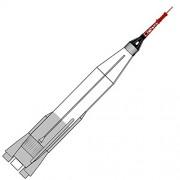 Dr Zooch Flying Model Rocket Kit 23 Mercury Atlas