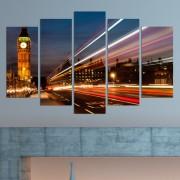 """Декоративен панел за стена с Часовниковата кула """"Биг бен"""" в Лондон Vivid Home"""