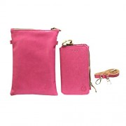 Jo Jo A7 Zara Sr Nillofer Leather Wallet sling Bag clutch Pouch Mobile Phone Case Cover For Sony Xperia Z Ultra Pink