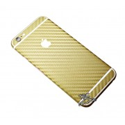 "Folie Iphone 6 / Iphone 6S ""Carbon fiber gear"" TIP CARBON GOLD"