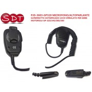PJD-3603-GP320 MICROFONO/ALTOPARLANTE SUPERPIATTO ANTISPRUZZO CAVO SPIRALATO PER SERIE MOTOROLA GP-320/340/360/380