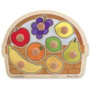 Melissa & Doug Fruit Basket Jumbo Knob Wooden Puzzle (8 pcs)