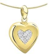 Ashanger hart met diamant