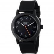 Vestal Mens ALP3P04 Alpha Bravo Plastic Analog Display Japanese Quartz Black Watch
