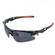 PANLEES D548 polarizadas Equitacion Golf Gafas w / Reemplazo de Lentes - Negro