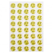 Gele smiley stickers
