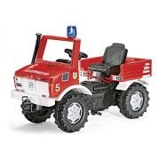 rolly toys 036639 Unimog - Vehículo de bomberos con luz y sonido, 110 cm [Importado de Alemania]