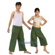 JUNGLE GREEN Yoga Wrap Trousers Fisher Pants 2 Length Options