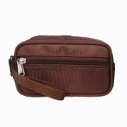 Modish Designs Multipurpose Zipper Closure Brown Color Toiletary/Cosmetic/Shaving/Travelling Small Bag Travel Toiletry Kit(Brown)