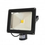 Fényvető / reflektor LED 30W, IP65, fekete, 4000K-white, alkonyat és Sensor