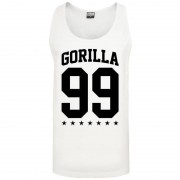 Gorilla 99 Loose Star Tank white M - Gorilla Sports