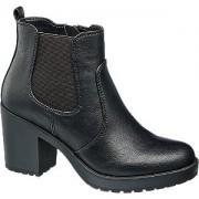 Zwarte chelsea boot blokhak