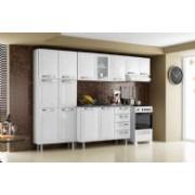 Cozinha Completa Itatiaia Itanew de Aço c 4 Peças CZ16 - Cor Branco c Preto
