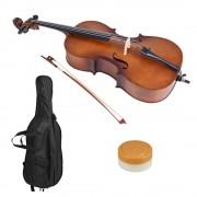 Violoncelle 3/4 Taille Matte En Bois Basswood Instrument À Cordes Avec Sac Et Colophane Pour Mélomanes