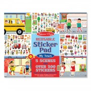 Melissa & Doug Reusable Sticker Pad - My Town - Red