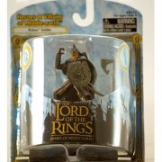 2004 - New Line / Play Along - Lord of the Rings : Armies of Middle Earth - Rohan Soldier Battle Scale Figure - Heroes & Villains of Middle Earth - Rare - Out of Production - Limited Edition - Colelctible