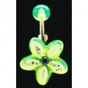 Piercing de nombril Fleur