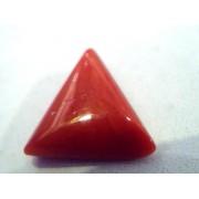 4.27 Carat Natural Italian Triangle Red Coral Moonga Gemstone